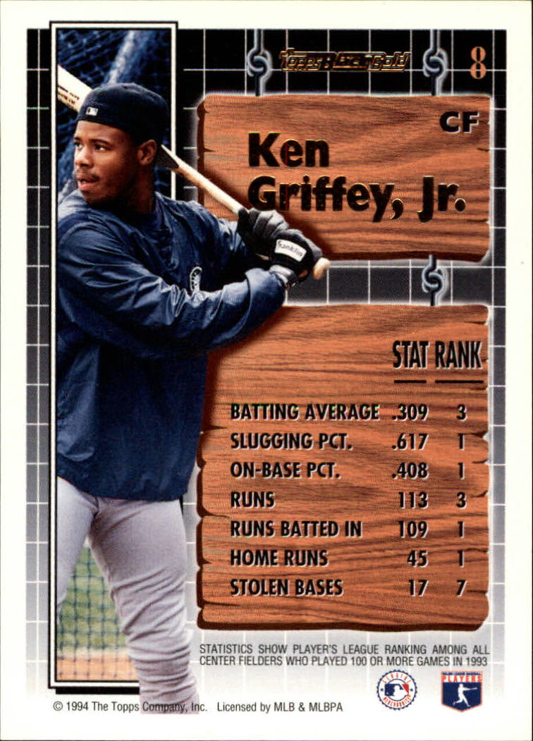 1994-Topps-Black-Gold-Baseball-1-38-Your-Choice-GOTBASEBALLCARDS thumbnail 13