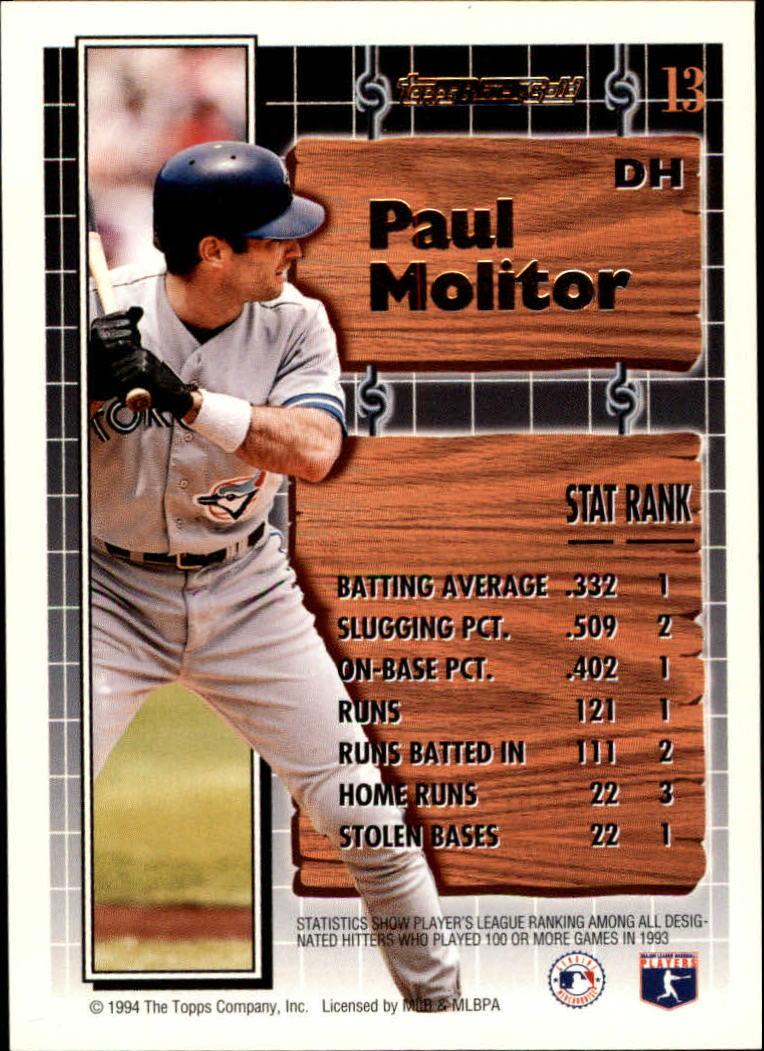 1994-Topps-Black-Gold-Baseball-1-38-Your-Choice-GOTBASEBALLCARDS thumbnail 21