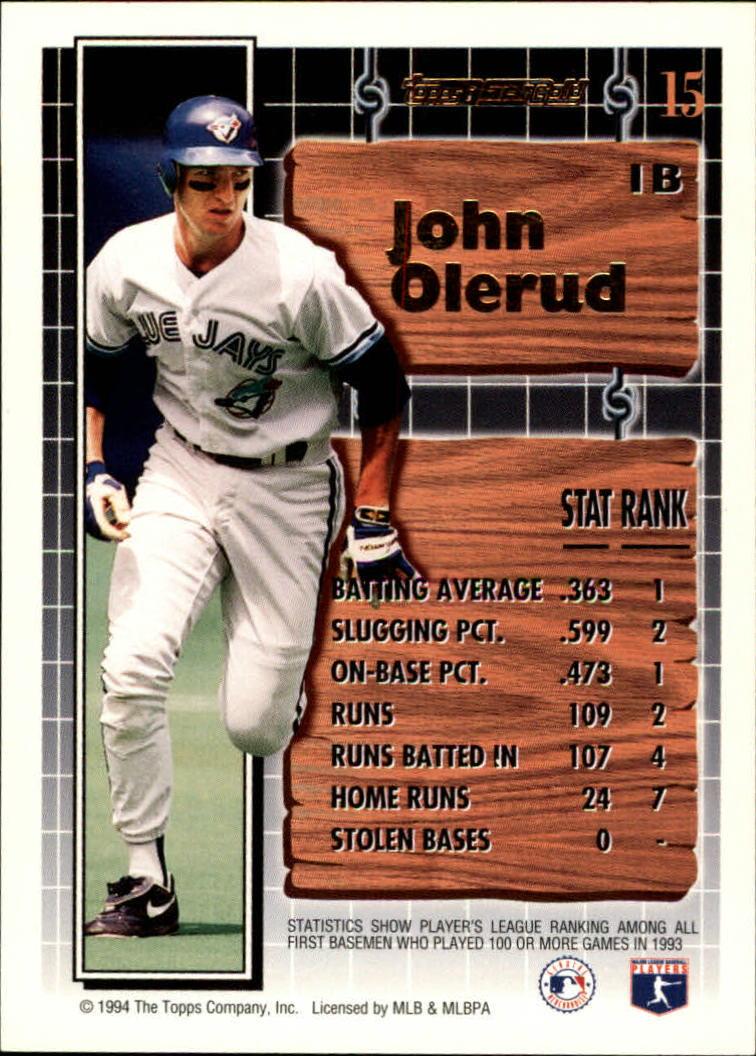 1994-Topps-Black-Gold-Baseball-1-38-Your-Choice-GOTBASEBALLCARDS thumbnail 23