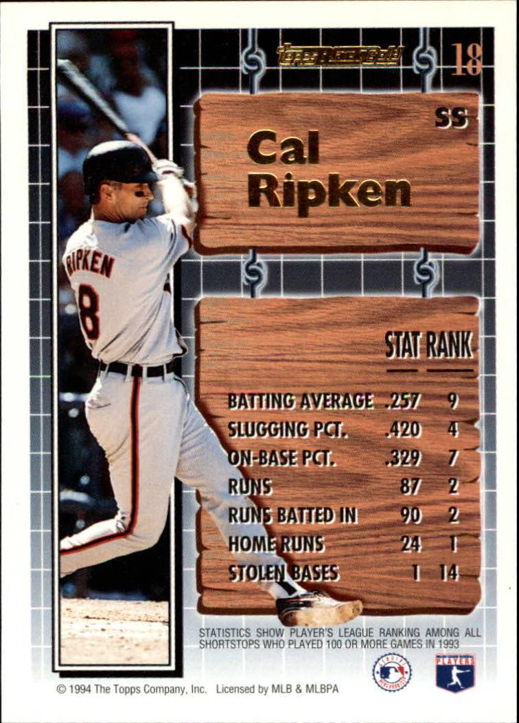 1994-Topps-Black-Gold-Baseball-1-38-Your-Choice-GOTBASEBALLCARDS thumbnail 27