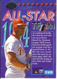 1994 Ultra All-Stars #17 Lenny Dykstra back image