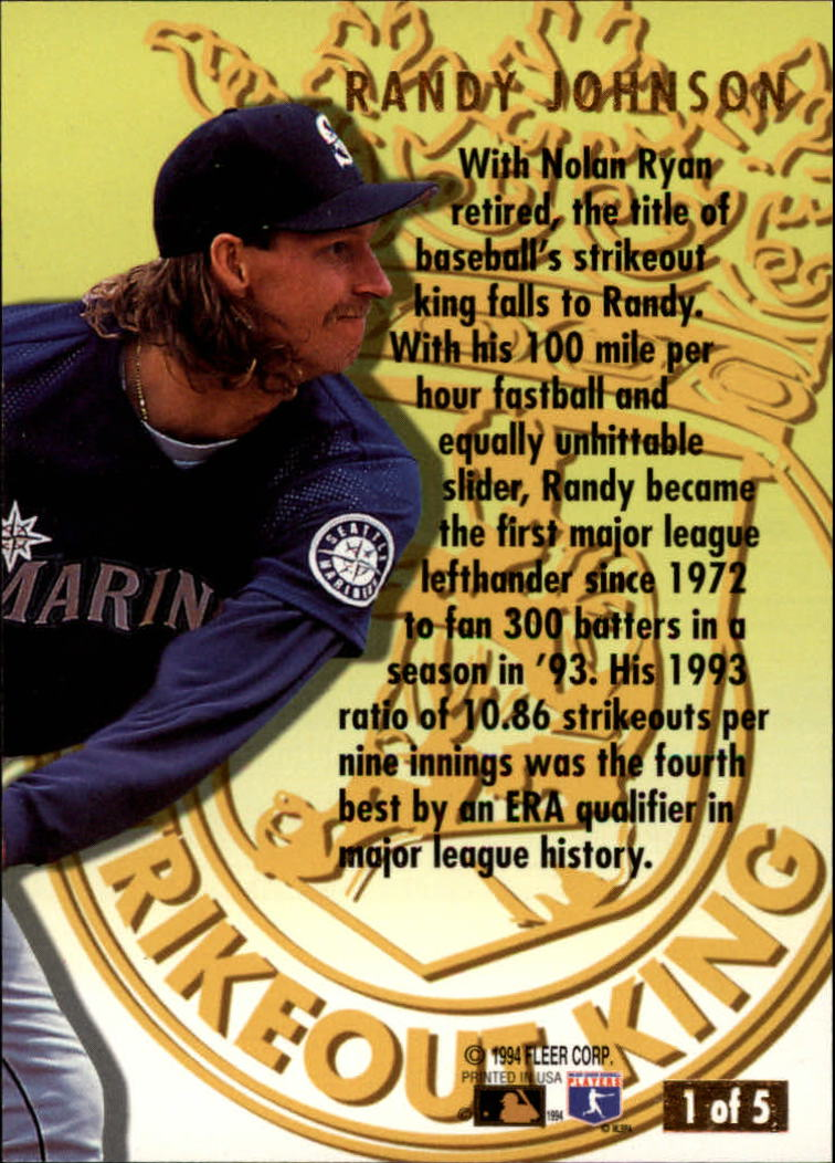 1994-Ultra-Strikeout-Kings-Baseball-1-5-Your-Choice-GOTBASEBALLCARDS thumbnail 3