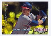 1994 Upper Deck Mantle's Long Shots Electric Diamond #MM11 David Justice