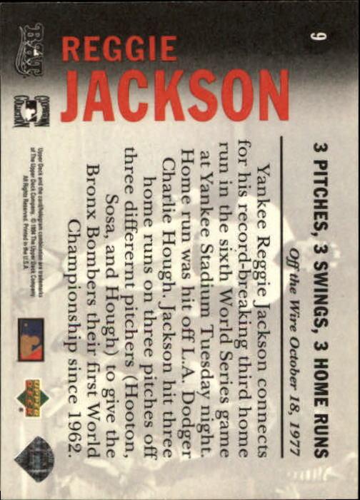 1994 Upper Deck All-Time Heroes #9 Reggie Jackson OW back image