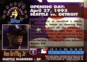 1995 Topps Opening Day #3 Ken Griffey Jr. back image