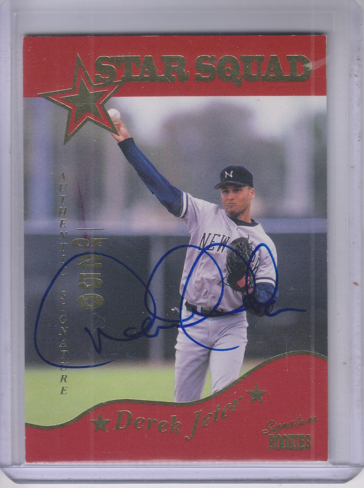 1995 Signature Rookies Old Judge Star Squad Signatures #3A Derek Jeter/250