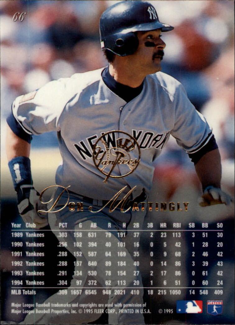 1995 Flair #66 Don Mattingly back image