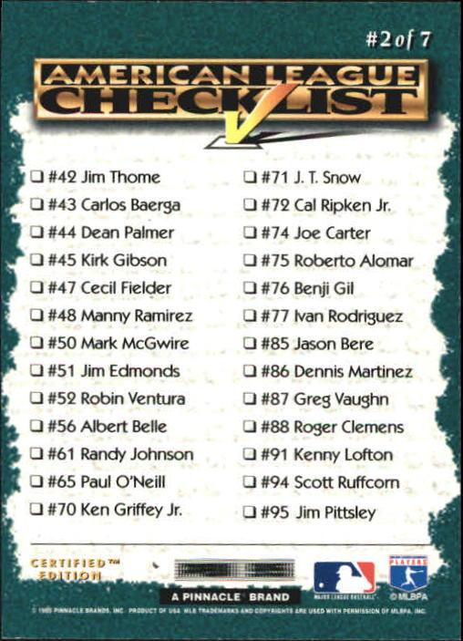 1995 Select Certified #2 Reggie Sanders back image