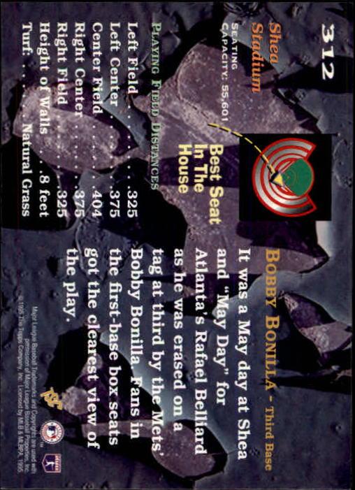 1995 Stadium Club #312 Bobby Bonilla BES back image