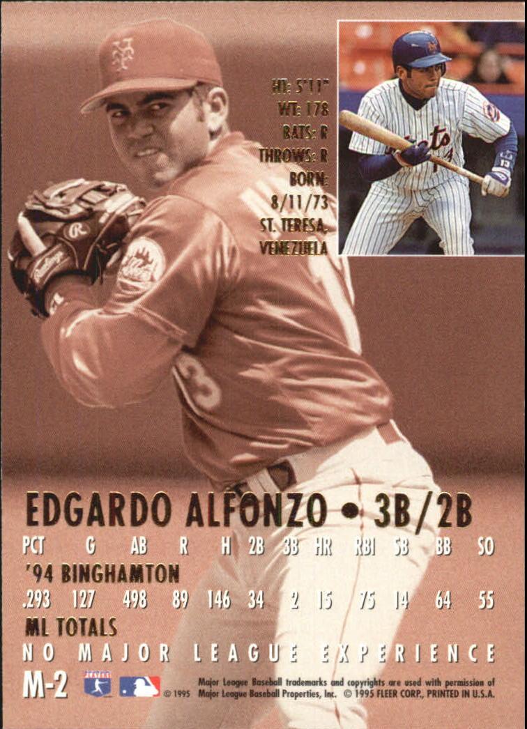 1995 Ultra Gold Medallion Rookies #M2 Edgardo Alfonzo back image