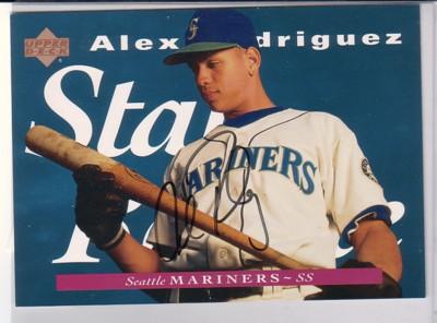 1995 Upper Deck #J215 A.Rodriguez Jumbo AU