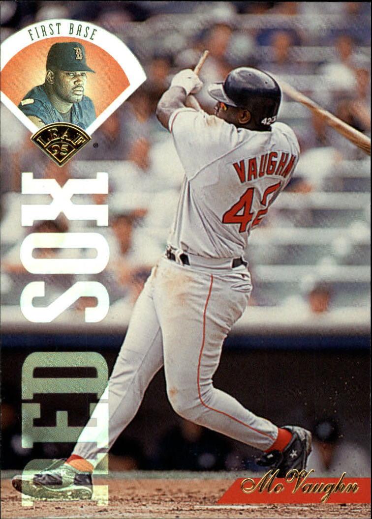 Details About 1995 Leaf Baseball Card 269 Mo Vaughn