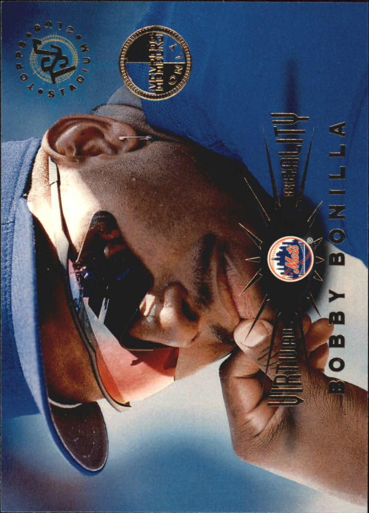 1995 Stadium Club Virtual Reality Members Only #60 Bobby Bonilla
