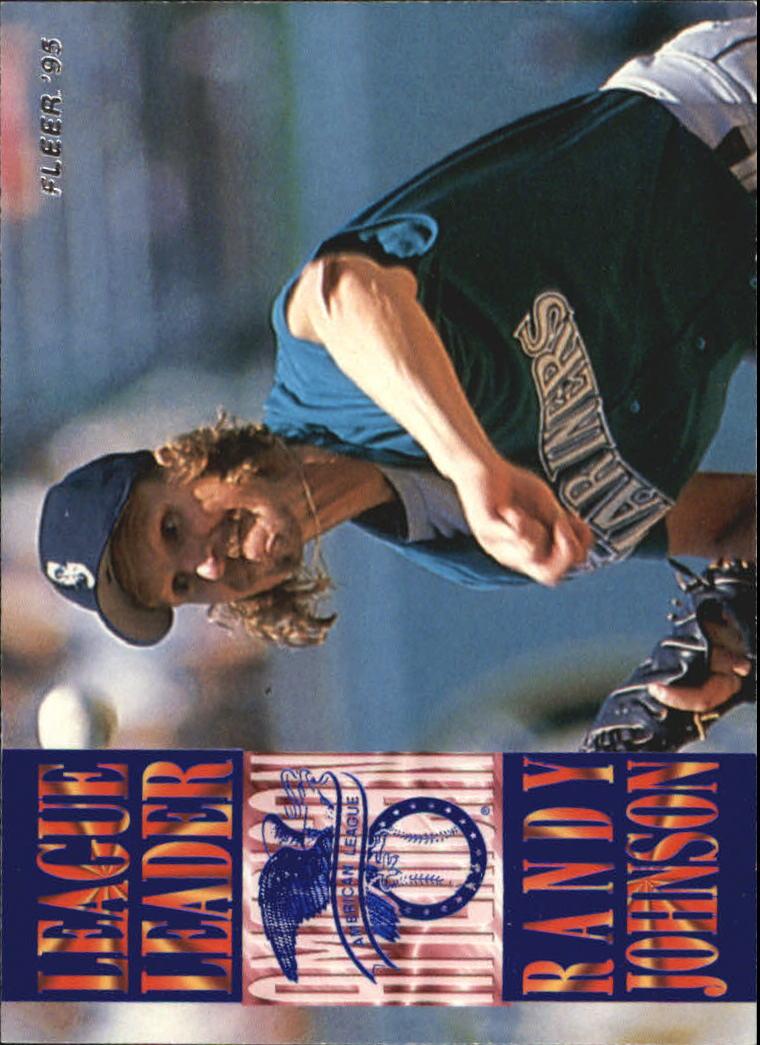 1995 Fleer League Leaders #5 Randy Johnson