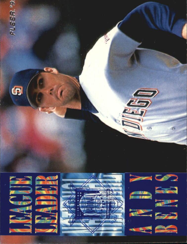 1995 Fleer League Leaders #10 Andy Benes