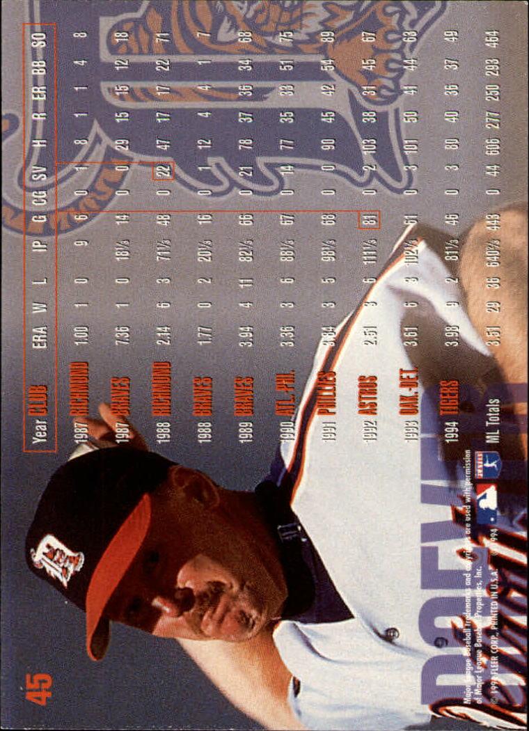 1995 Fleer #45 Joe Boever back image