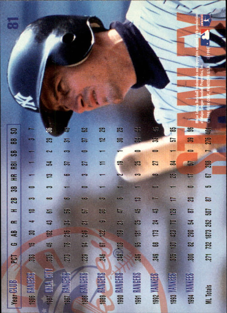 1995 Fleer #81 Mike Stanley back image