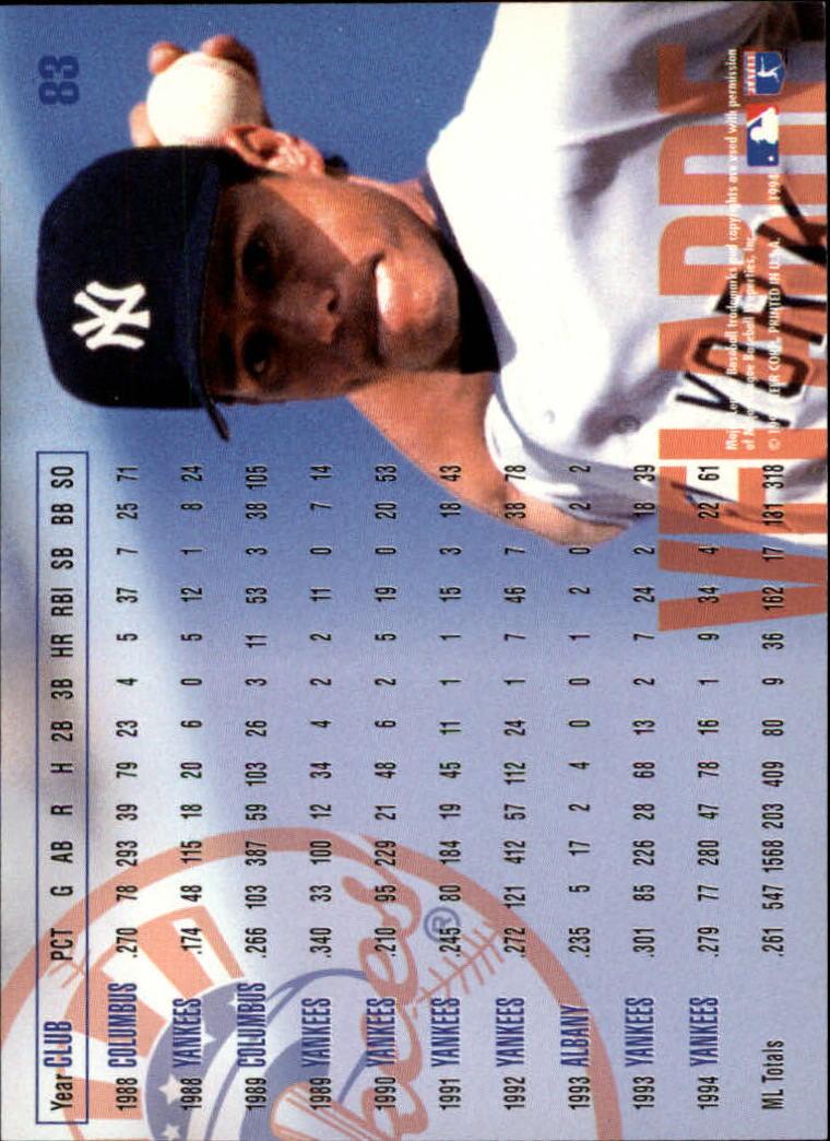 1995 Fleer #83 Randy Velarde back image