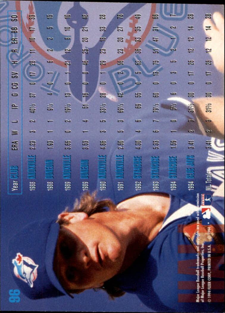 1995 Fleer #96 Darren Hall back image