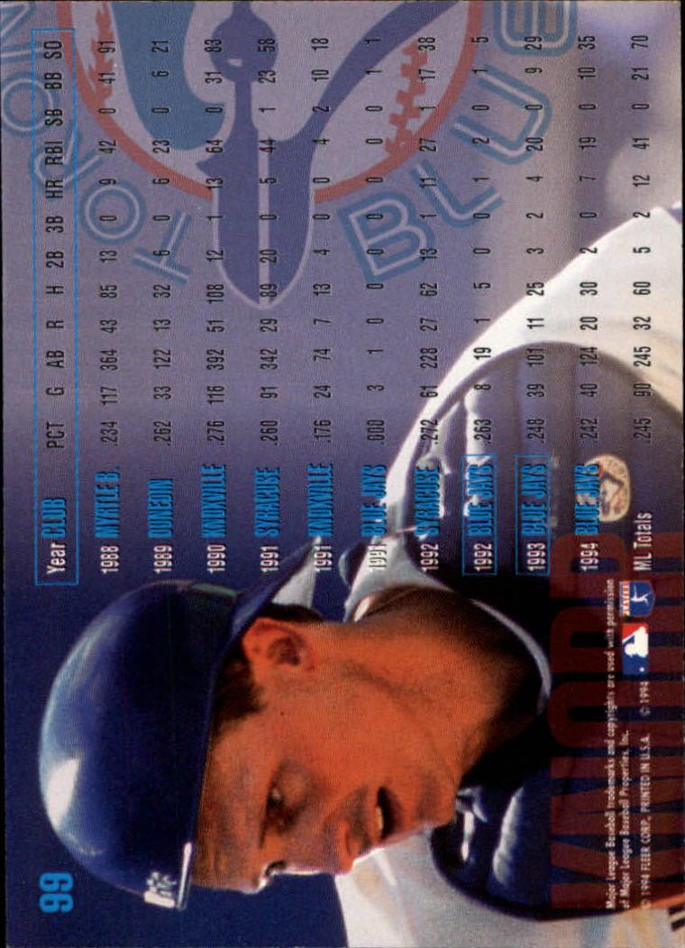 1995 Fleer #99 Randy Knorr back image