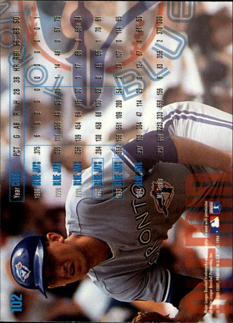 1995 Fleer #102 John Olerud back image