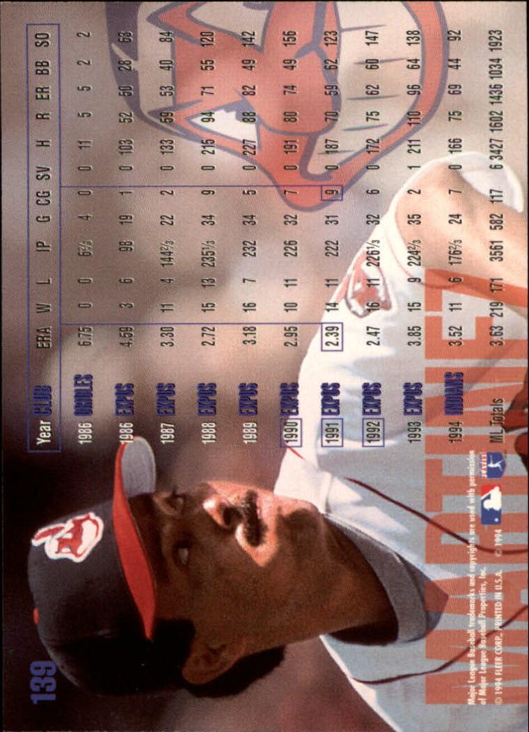 1995 Fleer #139 Dennis Martinez back image