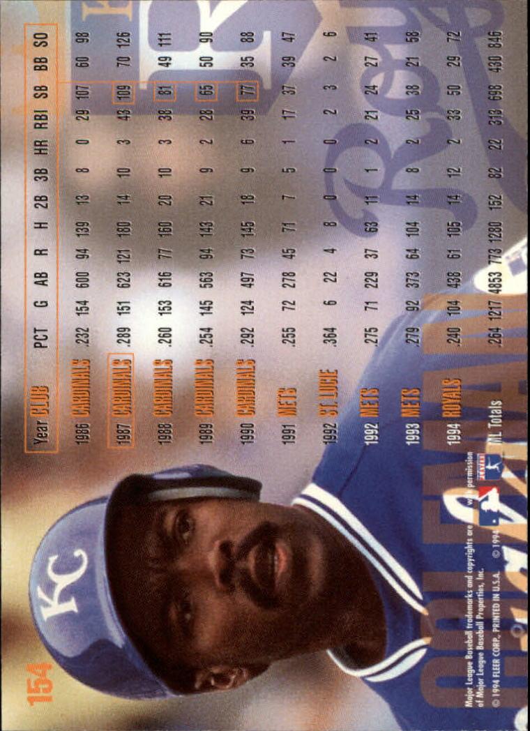 1995 Fleer #154 Vince Coleman back image