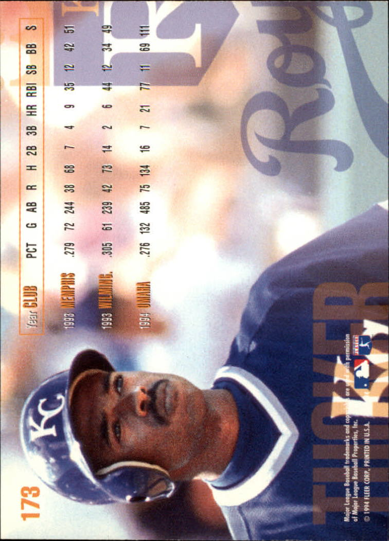 1995 Fleer #173 Michael Tucker back image