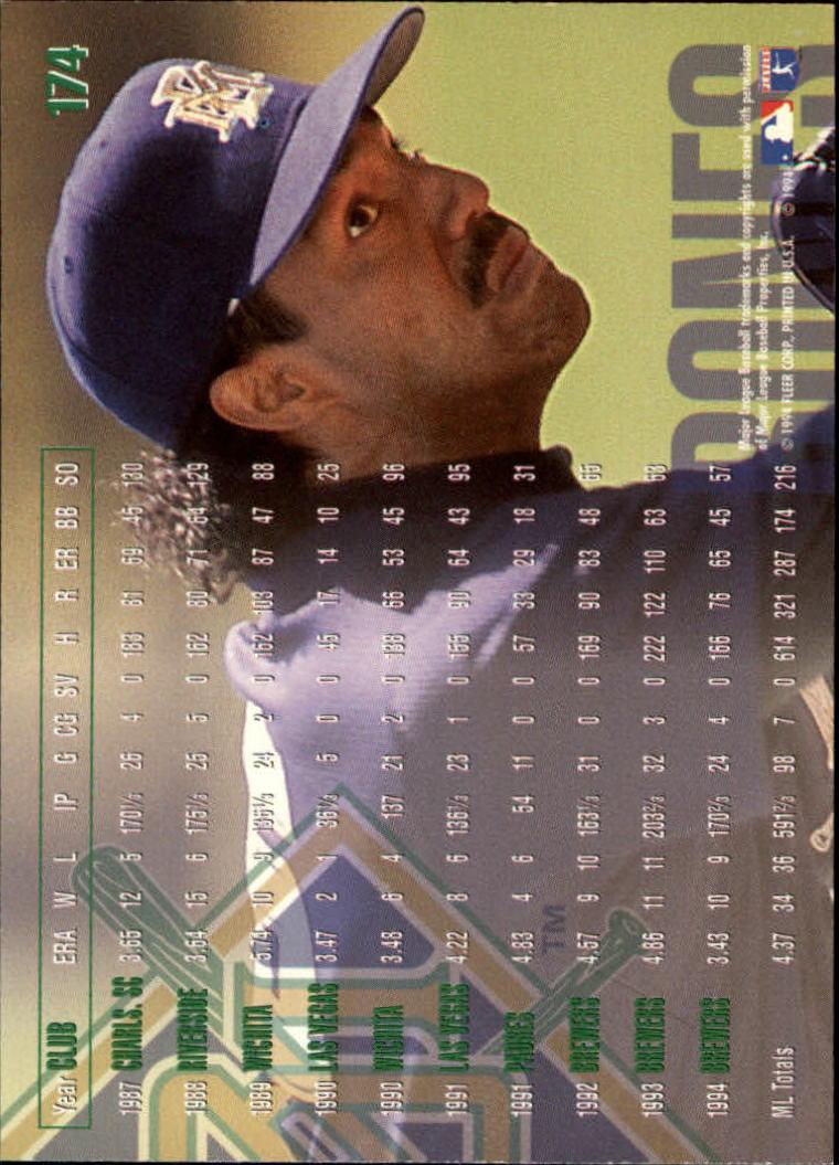 1995 Fleer #174 Ricky Bones back image