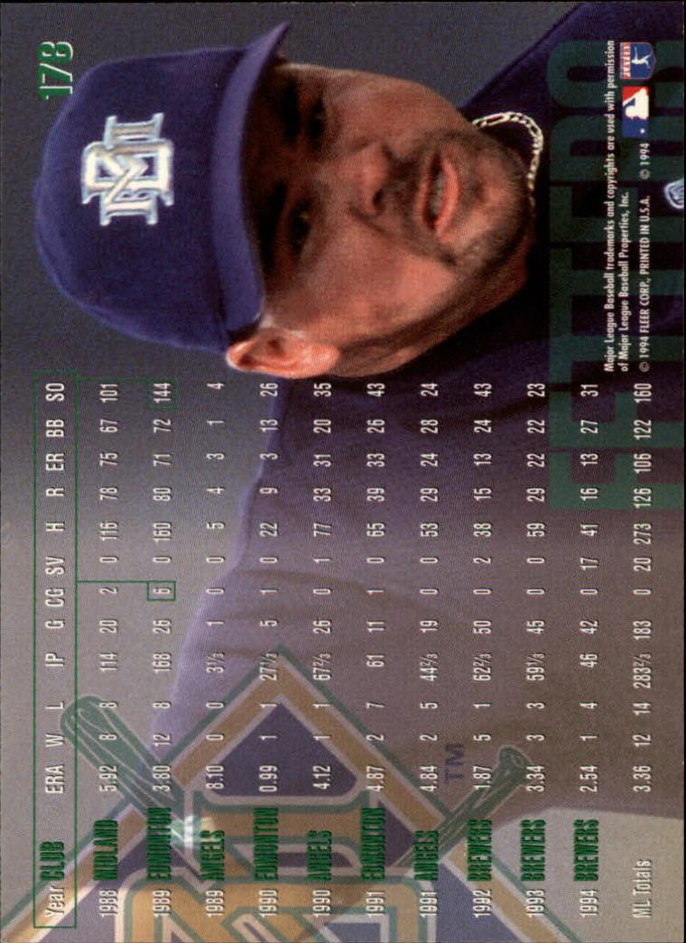 1995 Fleer #178 Mike Fetters back image