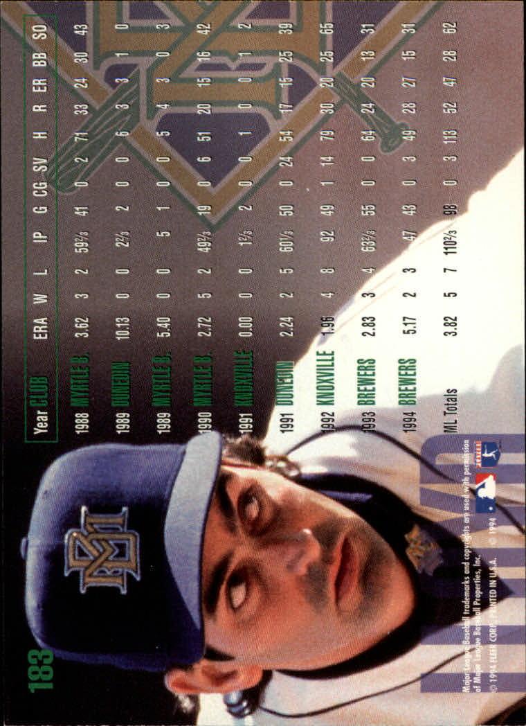 1995 Fleer #183 Graeme Lloyd back image