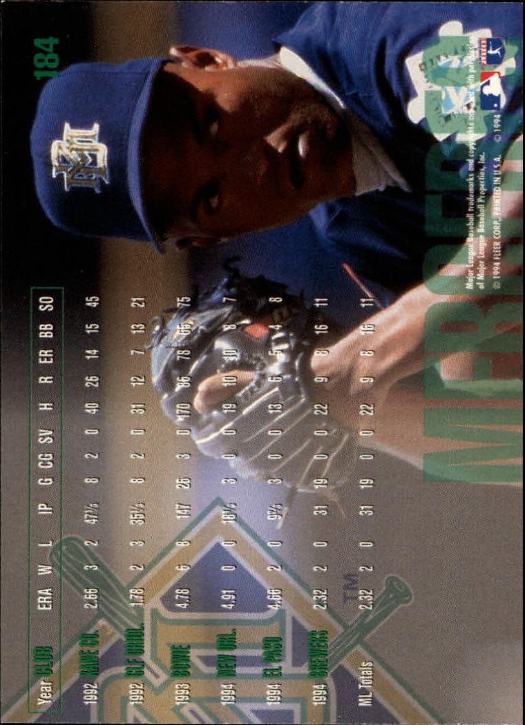1995 Fleer #184 Jose Mercedes back image