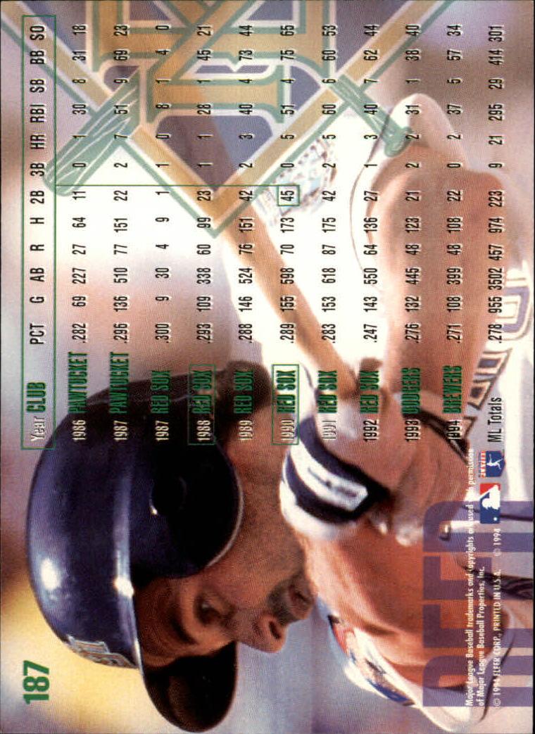 1995 Fleer #187 Jody Reed back image