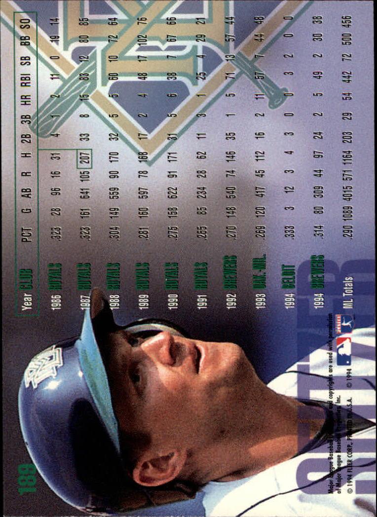 1995 Fleer #189 Kevin Seitzer back image