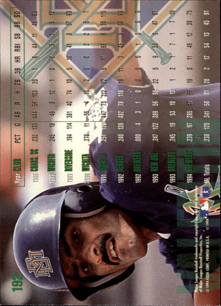 1995 Fleer #192 Jose Valentin back image