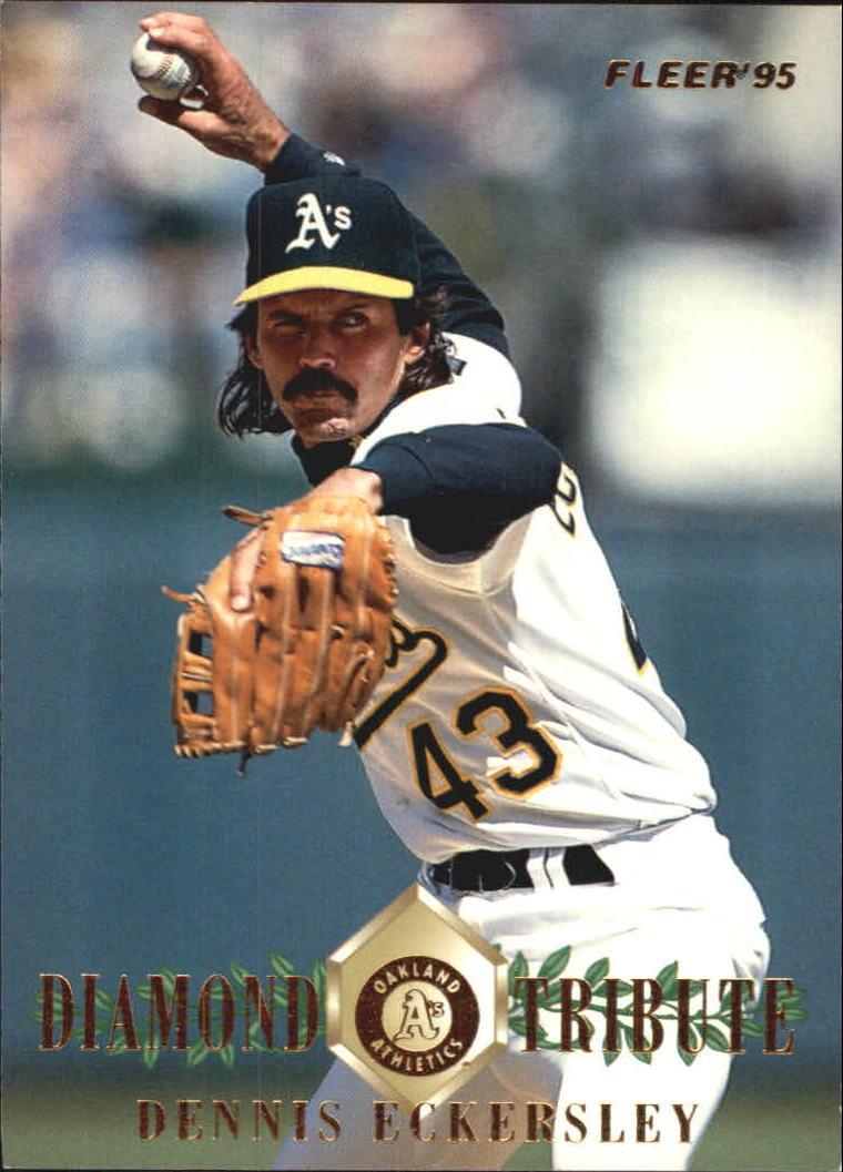 1995 Fleer Update Diamond Tribute #5 Dennis Eckersley