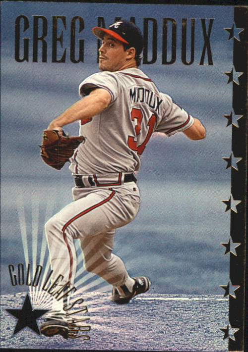 1995 Leaf Gold Stars #9 Greg Maddux