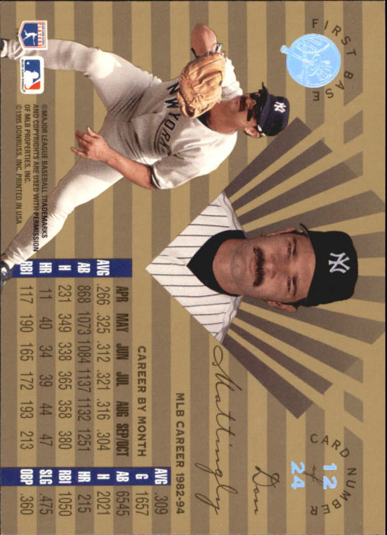1995 Leaf Limited Gold #12 Don Mattingly back image