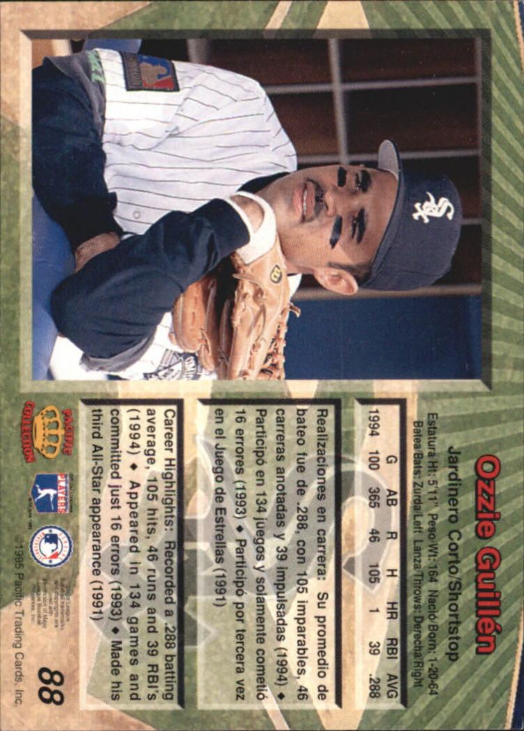 1995 Pacific #88 Ozzie Guillen back image
