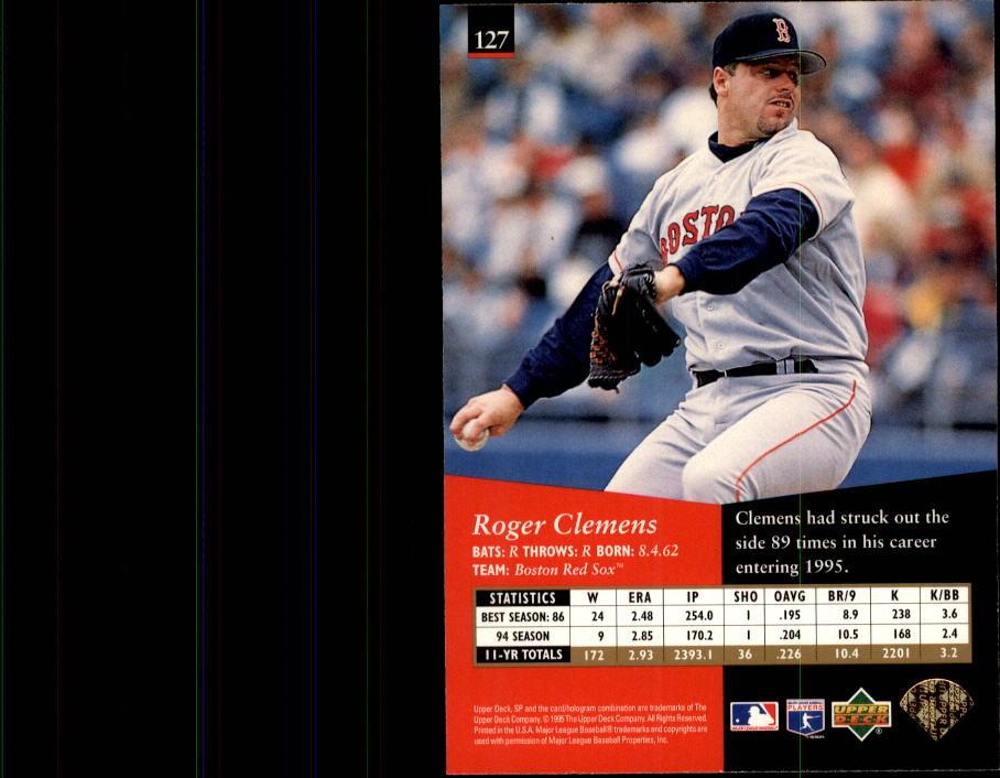 1995 SP #127 Roger Clemens back image