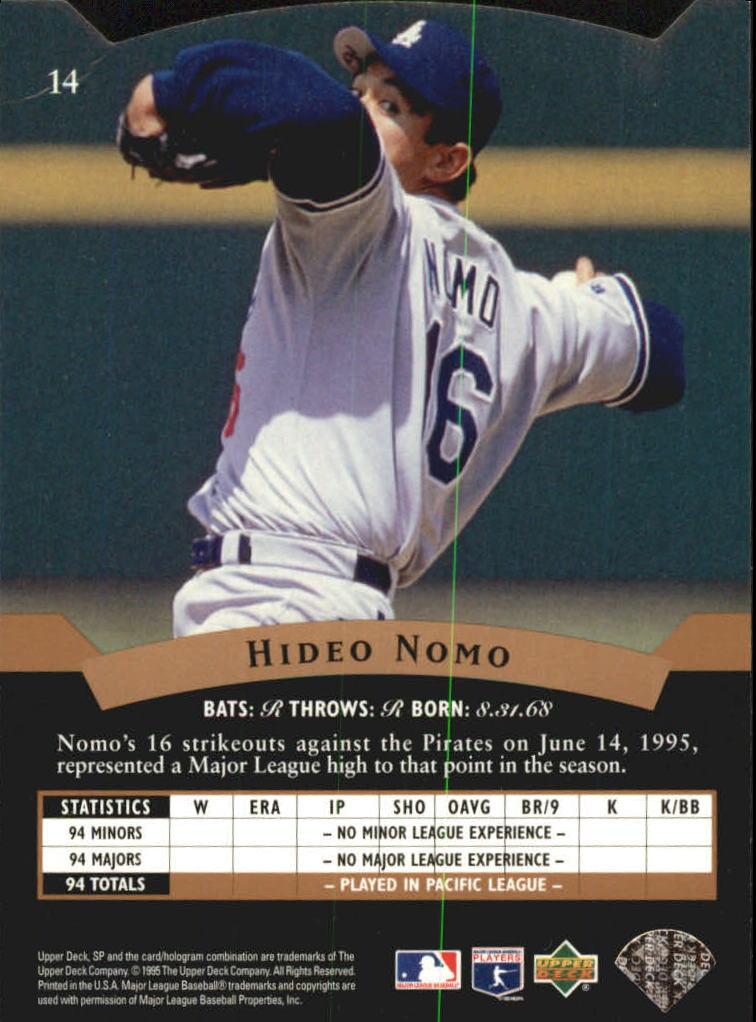 1995 SP Silver #14 Hideo Nomo FOIL back image