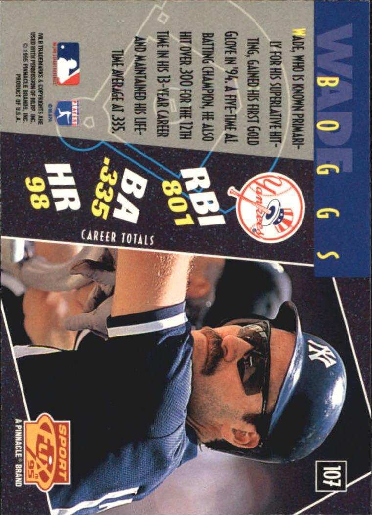 1995 Sportflix Artist's Proofs #107 Wade Boggs back image