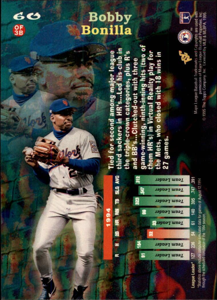 1995 Stadium Club Virtual Reality #60 Bobby Bonilla back image