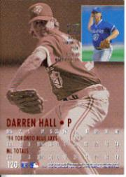 1995 Ultra #120 Darren Hall back image
