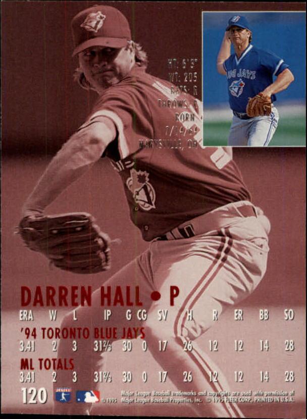 1995 Ultra Gold Medallion #120 Darren Hall back image