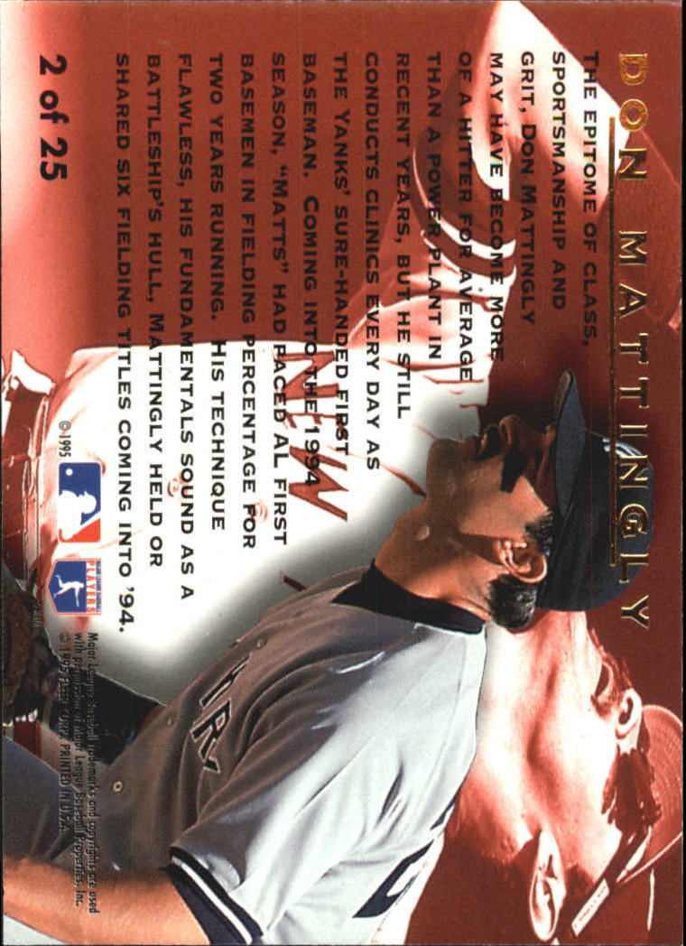 1995 Ultra Award Winners #2 Don Mattingly back image