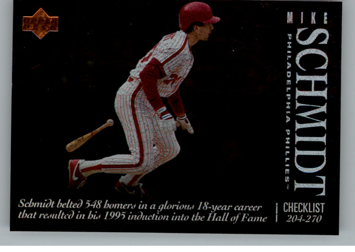 1995 Upper Deck Checklists #5B Mike Schmidt