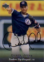 1995 Upper Deck Minors Autographs #7 Derek Jeter