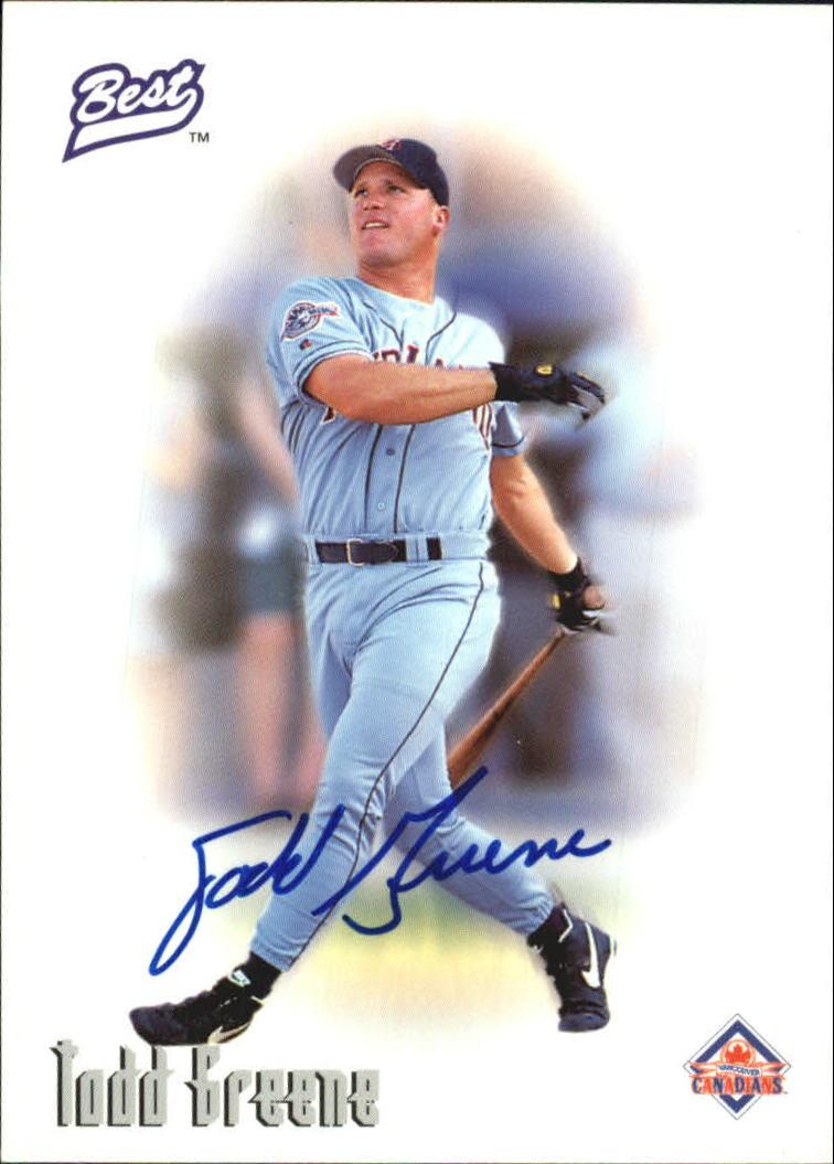 1996 Best Autographs #22 Todd Greene