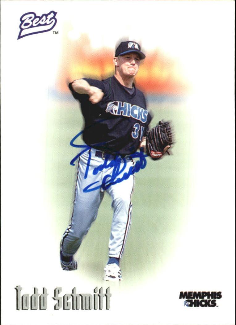1996 Best Autographs #67 Todd Schmitt
